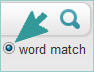 Search by word match